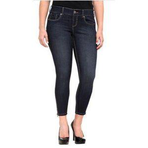 Torrid Super Stretch Stiletto Zipper Ankle Jeans